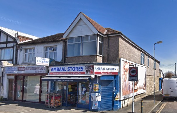 Ambaal Stores in Streatham Road, Mitcham. Credit: Google Maps. Free for use by all BBC wire partners.