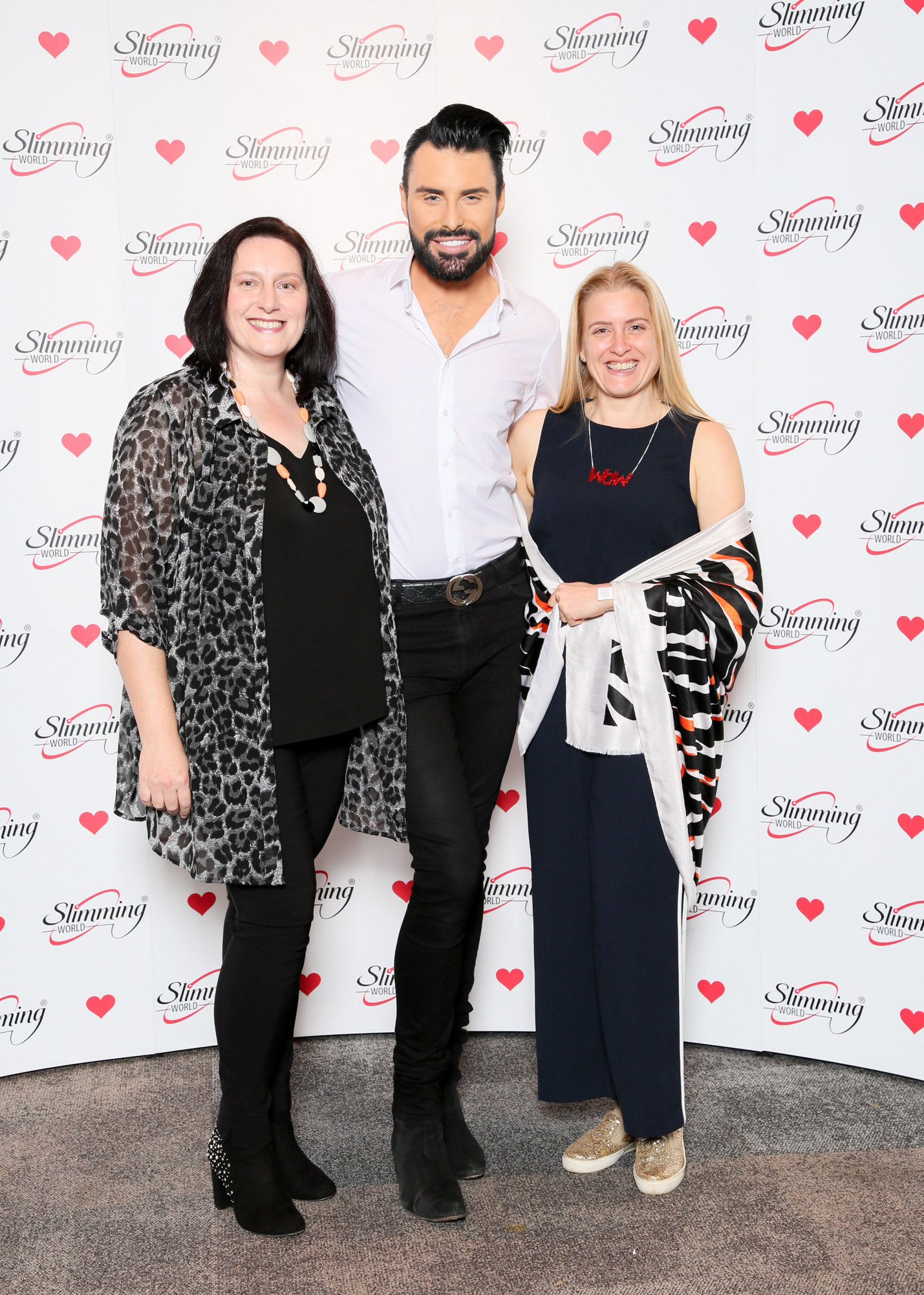 Slimming World Consultants Maria McCracken and Zillah Curtis meet singer and presenter Rylan Clark-Neal.