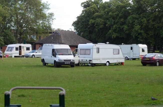 The traveller camp in Kingston