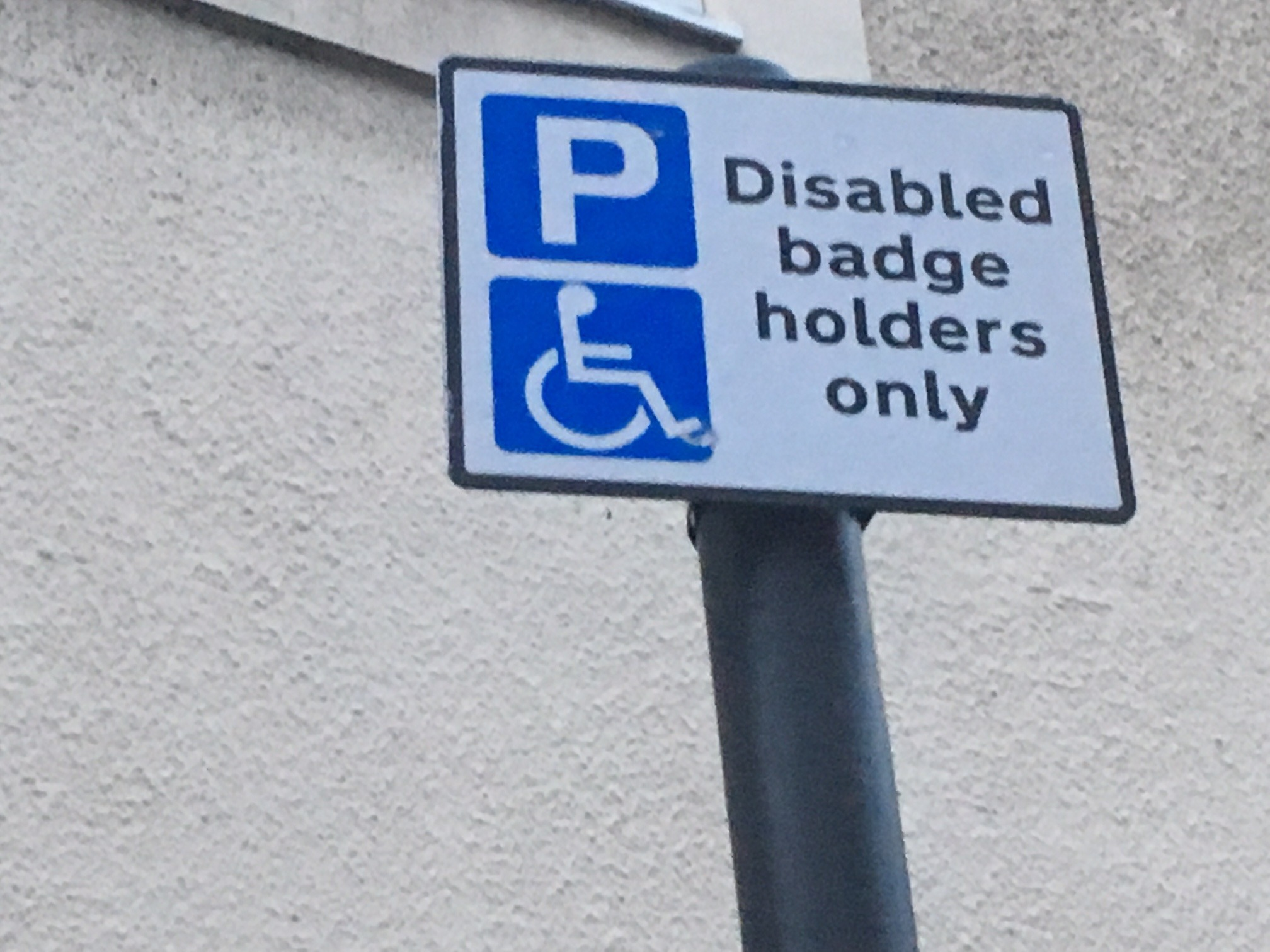 Blue badge parking in Hammersmith, pic by LDR Julia Gregory.  Free for use for partners of BBC news wire service