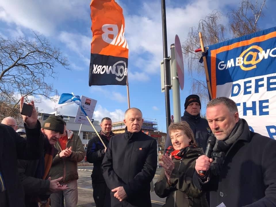 GMB represent the workers at Kingston Hospital demanding adequate sick pay from ISS