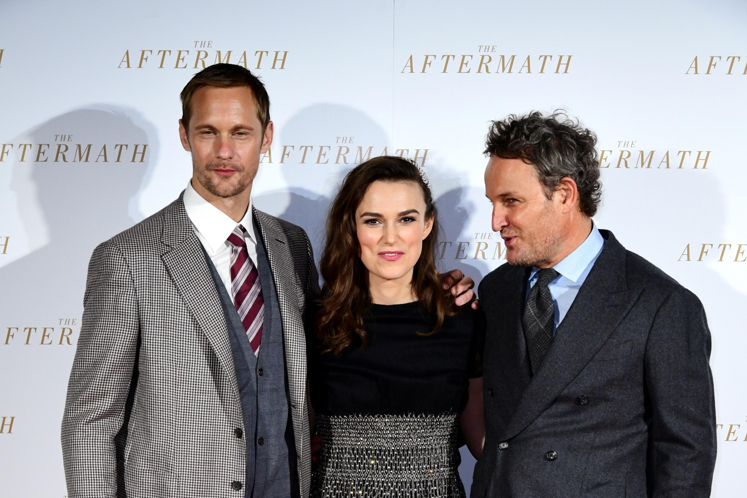 Alexander Skarsgard, Keira Knightley, and Jason Clarke attending the world premiere of The Aftermath