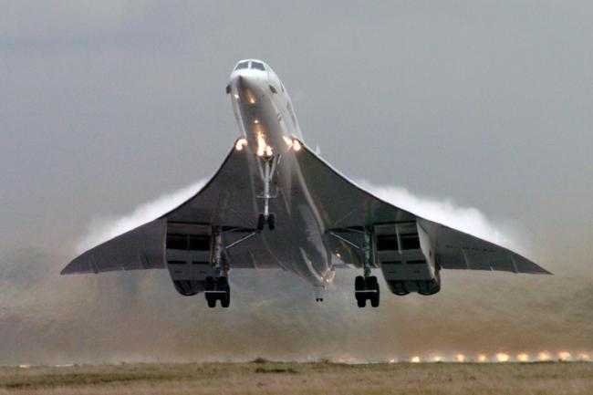 The Concorde as aviation enthusiasts are celebrating the 50th anniversary of its first flight