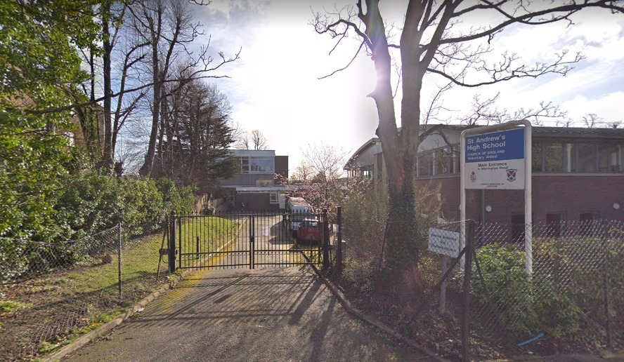 St Andrew\'s High School, Waddon. Credit: Google Maps. Free for use by all BBC wire partners.