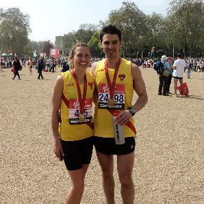 Claire and David Grima who posted lifetime best half-marathon times at Reading