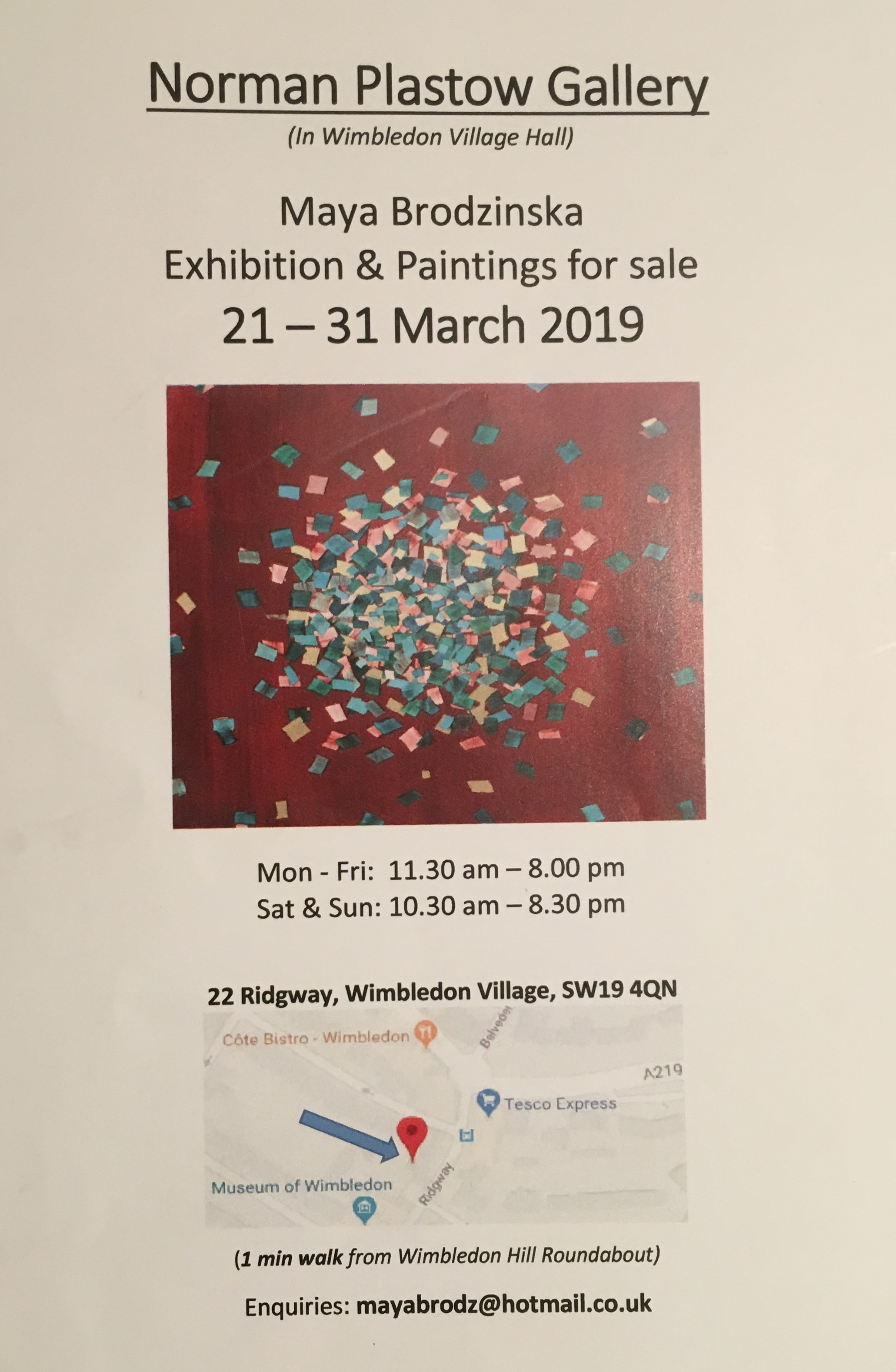 A brush with modern art at the Norman Plastow Gallery by Eliza King-Christopher, Wimbledon High School