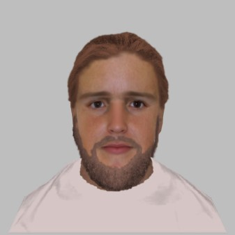 E-fit image released by Surrey Police matched to the suspect's description. Image: Surrey Police