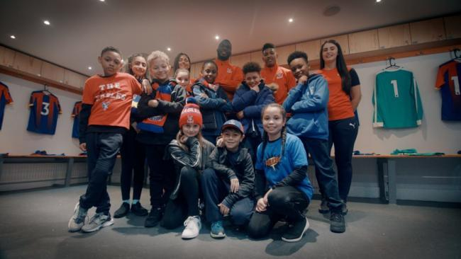Primary school dancers and Crystal Palace stars
