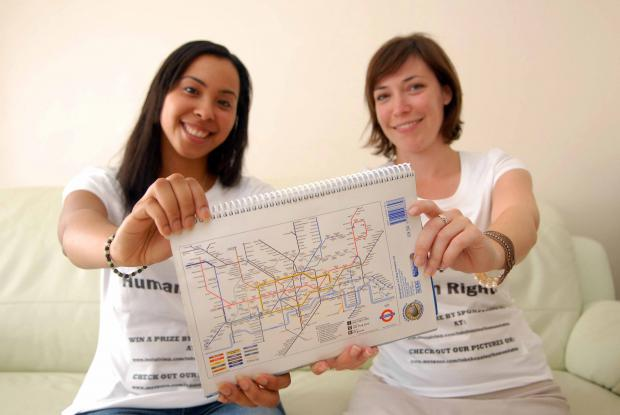 Duo to tackle every tube station in London: Simone Handy and Kobie Child