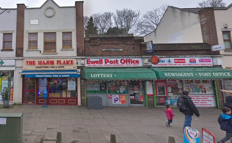 Ewell Post Office. Image: Google Maps