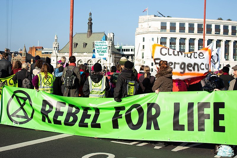 Extinction Rebellion have occupied several key sites around London and other major cities to raise awareness about the threats posed by climate change. Image: commons.wikimedia.org
