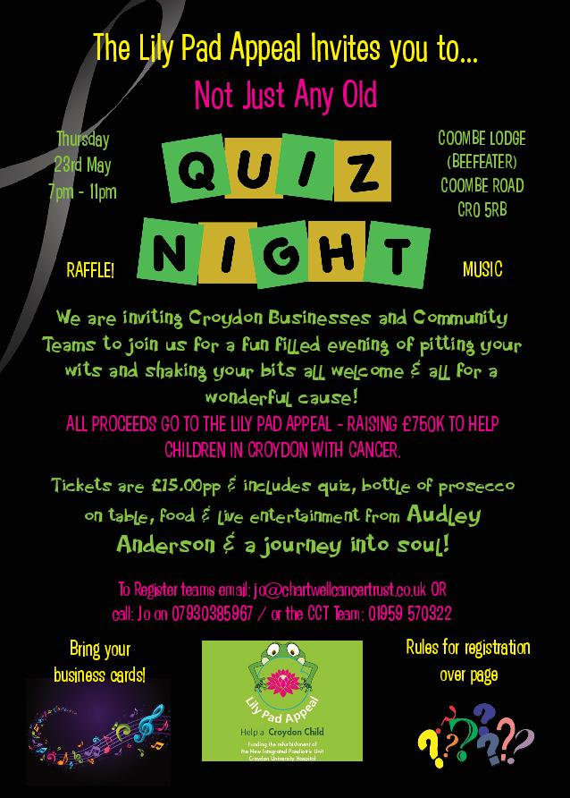 Not Just Any Old Quiz Night!