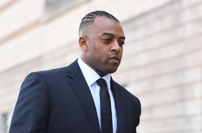 Former JLS star Oritse Williams arrives at Wolverhampton Crown Court