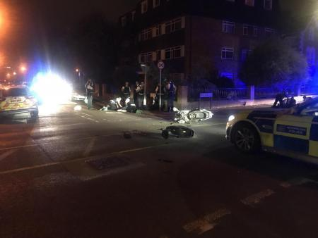 The crash scene in Wimbledon