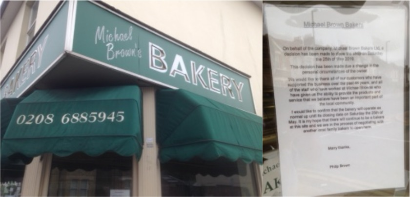 Independent Croydon bakery closing after 40 years of trading