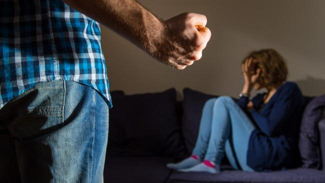 Domestic violence stock image