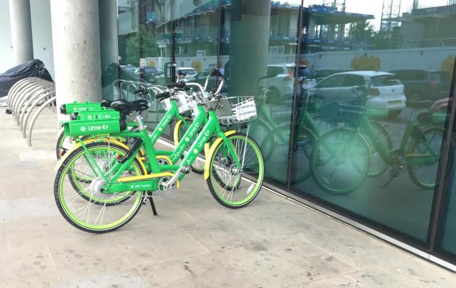 Limes Bikes in Croydon town centre. Credit: Tara O\'Connor. Free for use by all BBC wire partners.